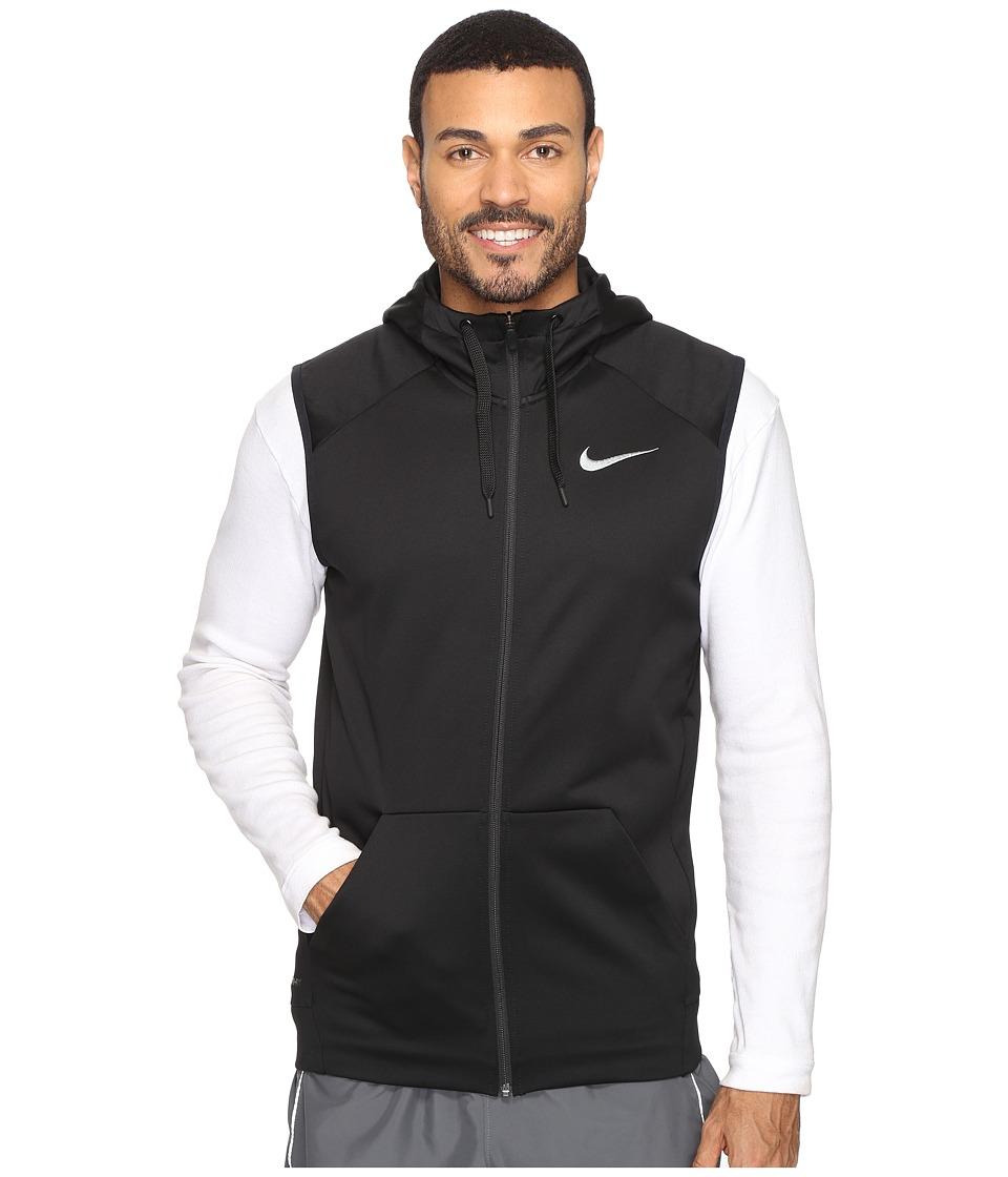 Nike Therma Hoodie Sleeveless Full Zip Swoosh (Black/White) Men