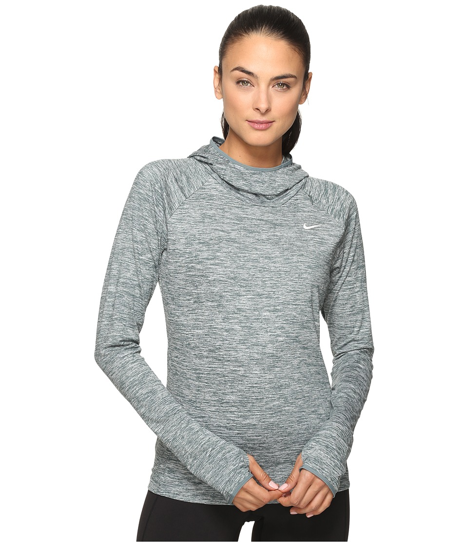 Nike - Dry Element Running Hoodie (Hasta/Heather/Reflective Silver) Women's Sweatshirt