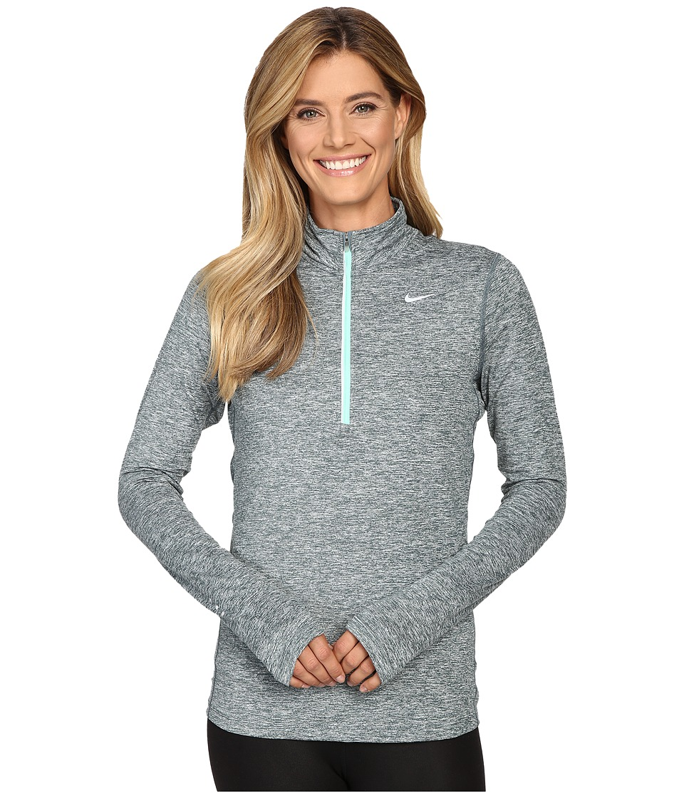 Nike - Dri-FIT Element Half Zip (Hasta/Heather/Green Glow/Reflective Silver) Women's Long Sleeve Pullover