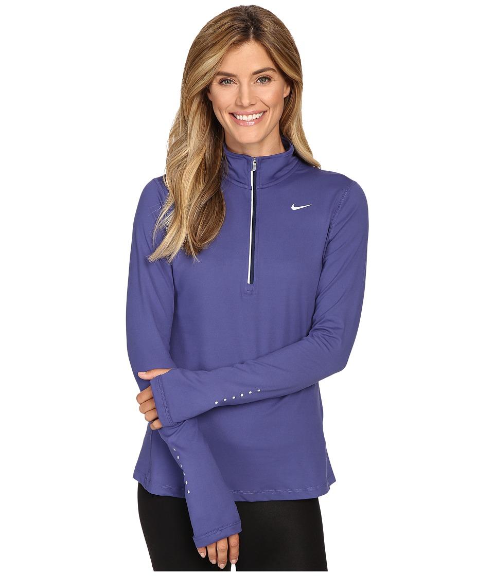 Nike - Dri-FIT Element Half Zip (Dark Purple Dust/Reflective Silver) Women's Long Sleeve Pullover