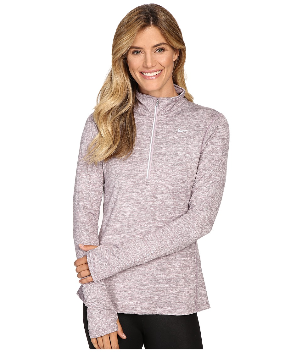 Nike - Dri-FIT Element Half Zip (Purple Smoke/Heather/Reflective Silver) Women's Long Sleeve Pullover