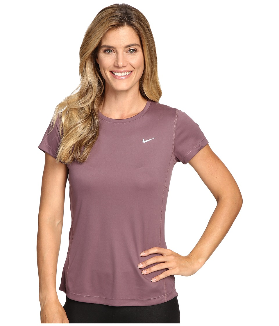 Nike - Dri-FIT Miler Short Sleeve Top (Purple Shade/Reflective Silver) Women's T Shirt