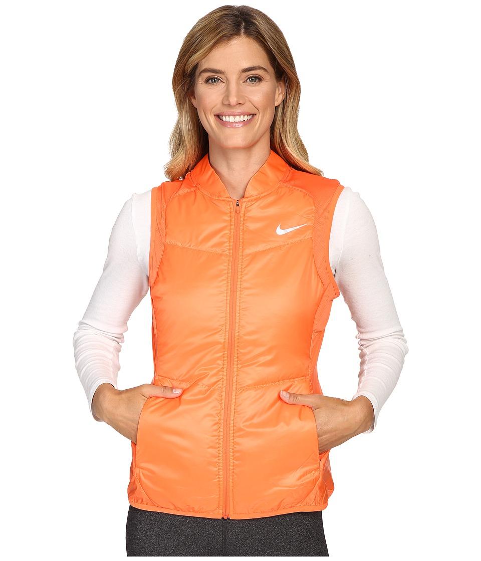 Nike - Polyfill Vest (Turf Orange/Turf Orange/Reflective Silver) Women's Vest