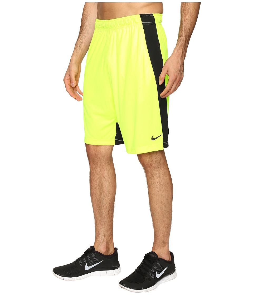 Nike - Fly 9 Shorts (Volt/Black/Black) Men's Shorts