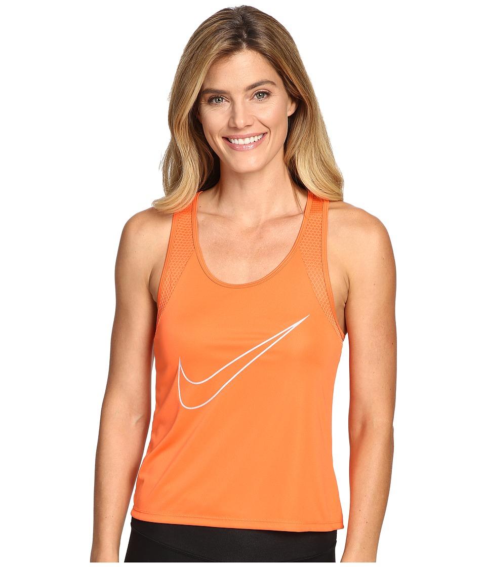 Nike - Dry Run Fast Running Tank Top (Turf Orange/Reflective Silver) Women's Sleeveless
