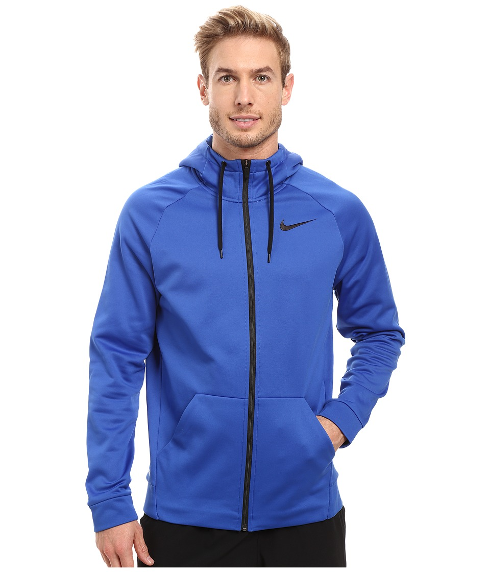 Nike - Therma Full-Zip Training Hoodie (Game Royal/Black) Men's Sweatshirt