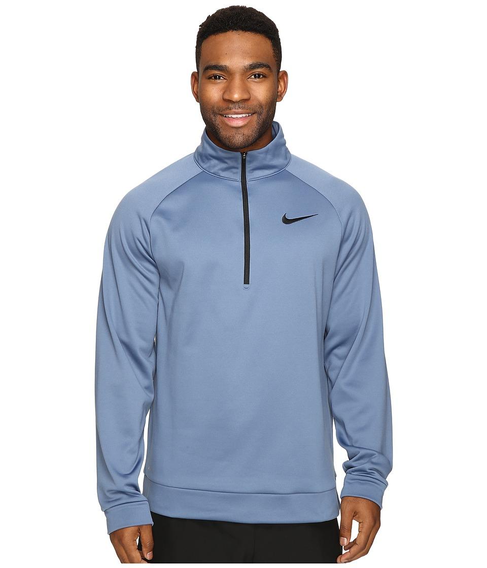 Nike - Therma 1/4 Zip Pullover (Ocean Fog/Black) Men's Clothing