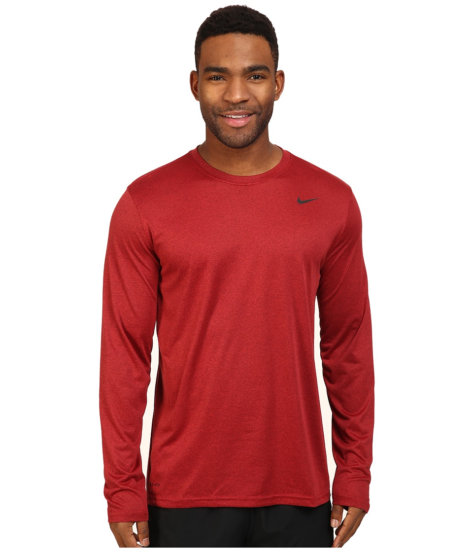 Nike - Legend 2.0 Long Sleeve Tee (Night Maroon/Gym Red/Black) Men's T Shirt