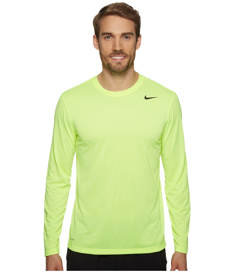 Nike - Legend 2.0 Long Sleeve Tee (Volt/Black/Black) Men's T Shirt
