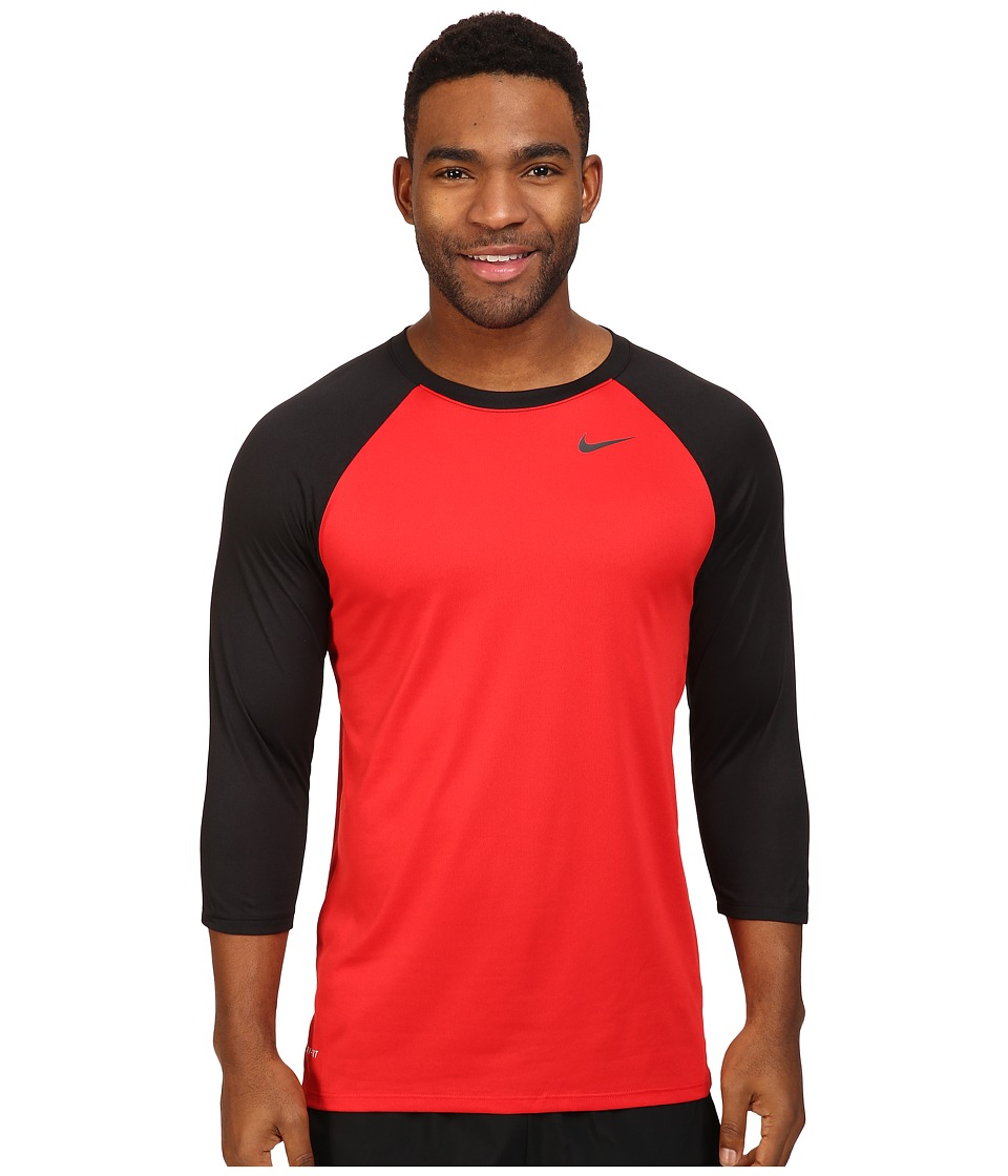 Nike - Legend 3/4 Raglan Tee (University Red/Black/Black) Men's T Shirt