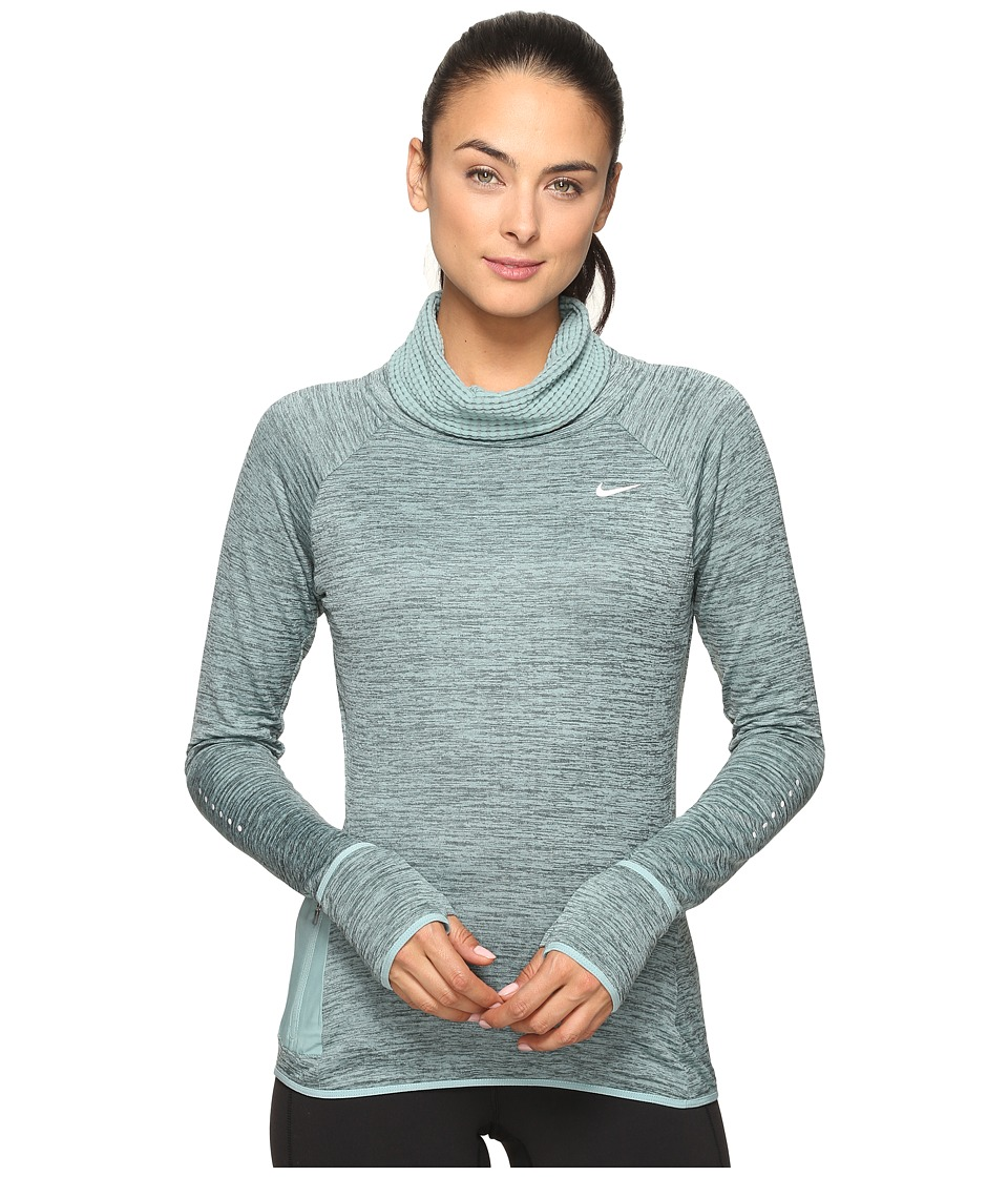 Nike - Therma Sphere Element Long Sleeve Running Top (Hasta/Heather/Cannon/Reflective Silver) Women's Clothing