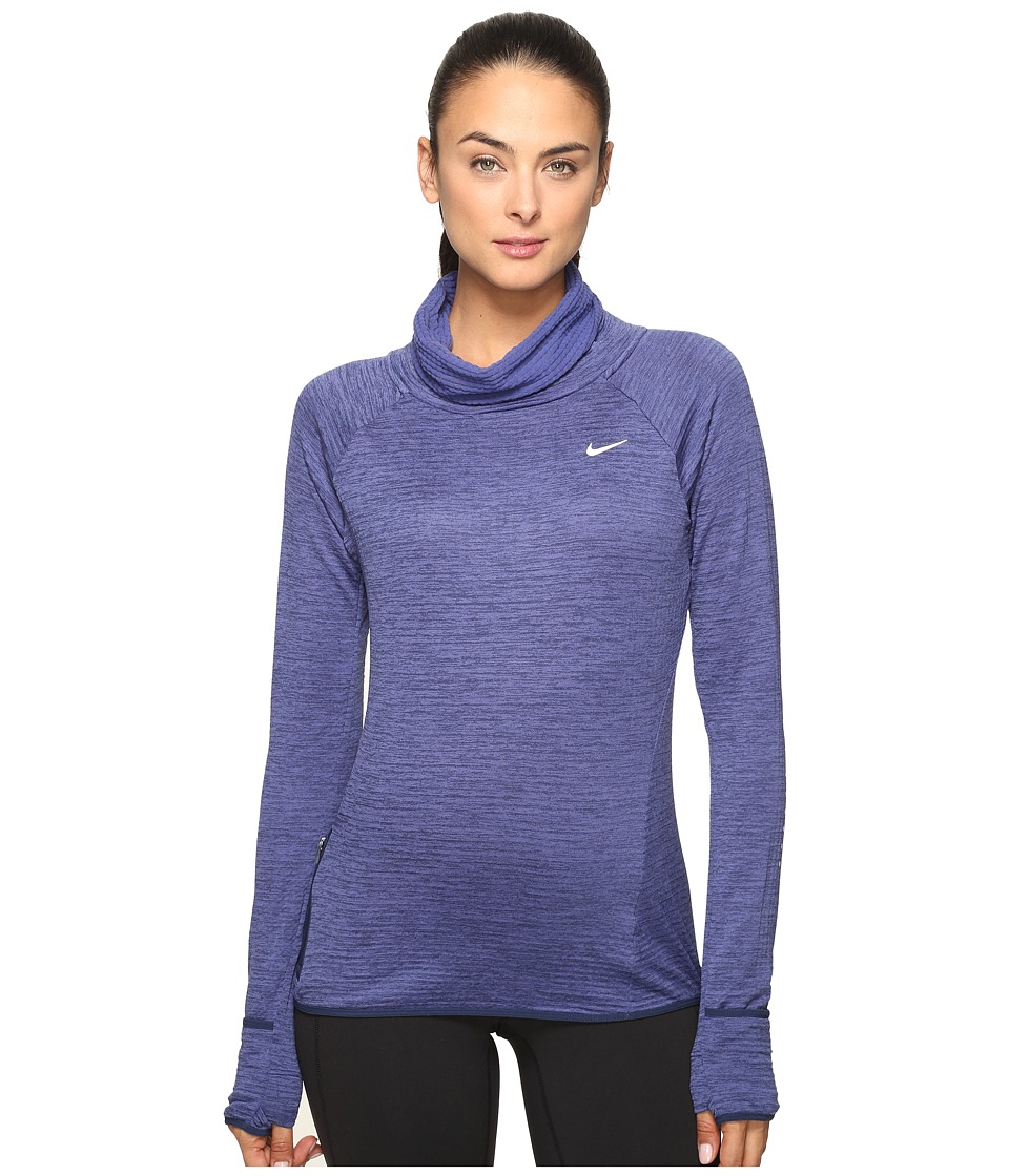 Nike - Therma Sphere Element Long Sleeve Running Top (Dark Purple Dust/Heather/Reflective Silver) Women's Clothing