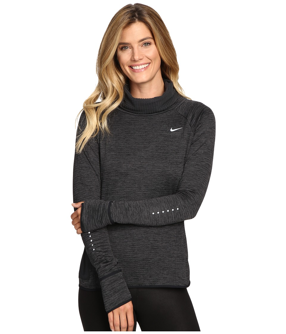 Nike - Therma Sphere Element Long Sleeve Running Top (Black/Heather/Black/Reflective Silver) Women's Clothing