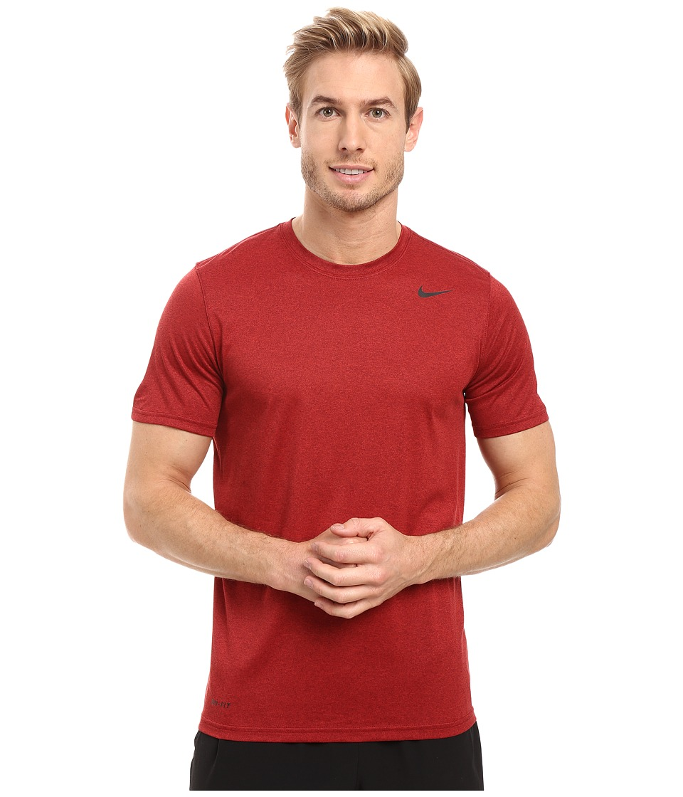 Nike - Legend 2.0 Short Sleeve Tee (Night Maroon/Gym Red/Black) Men's T Shirt