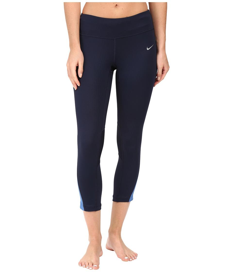 Nike - Racer Crop 3.0 Pants (Obsidian/Star Blue/Reflective Silver) Women's Workout