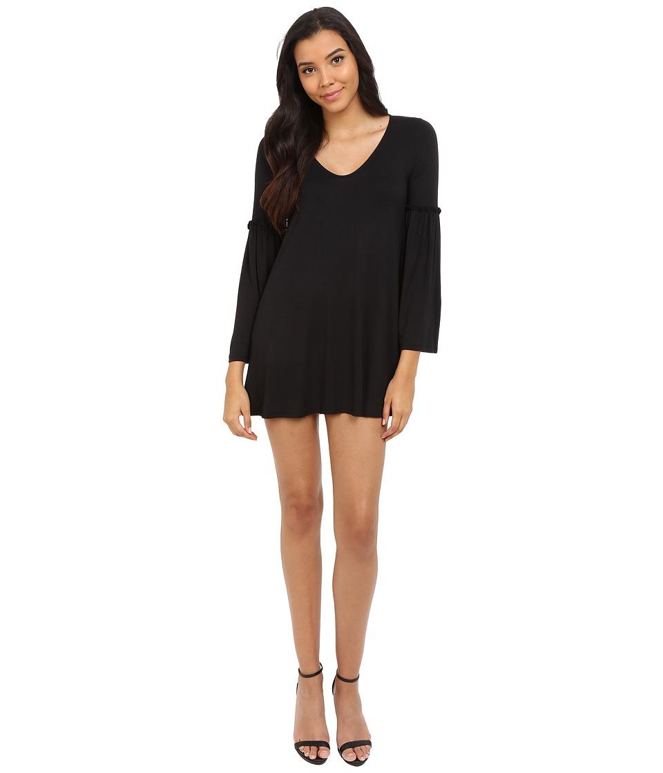 Brigitte Bailey - Shiana Flare Sleeve Dress (Black) Women's Dress