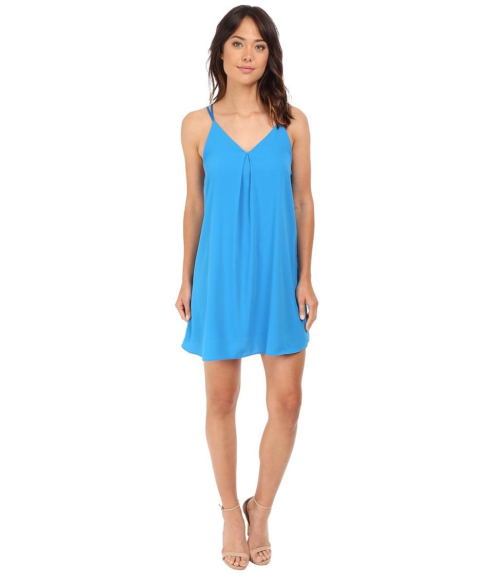 Brigitte Bailey - Tabitha Double Strap V-Neck Dress (Blue) Women's Dress
