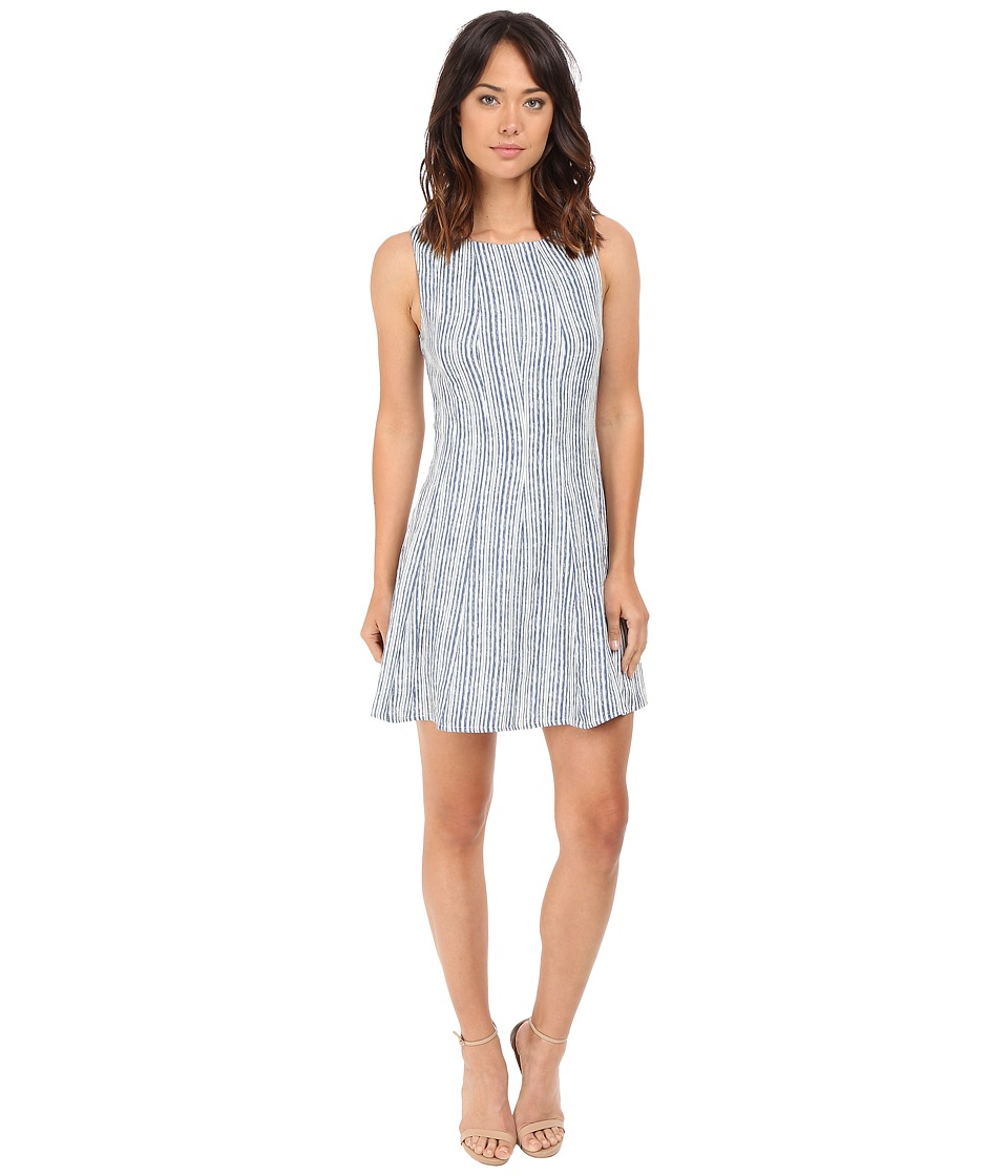Brigitte Bailey Clover Sleeveless Fit and Flare Dress (Blue/Ivory) Women