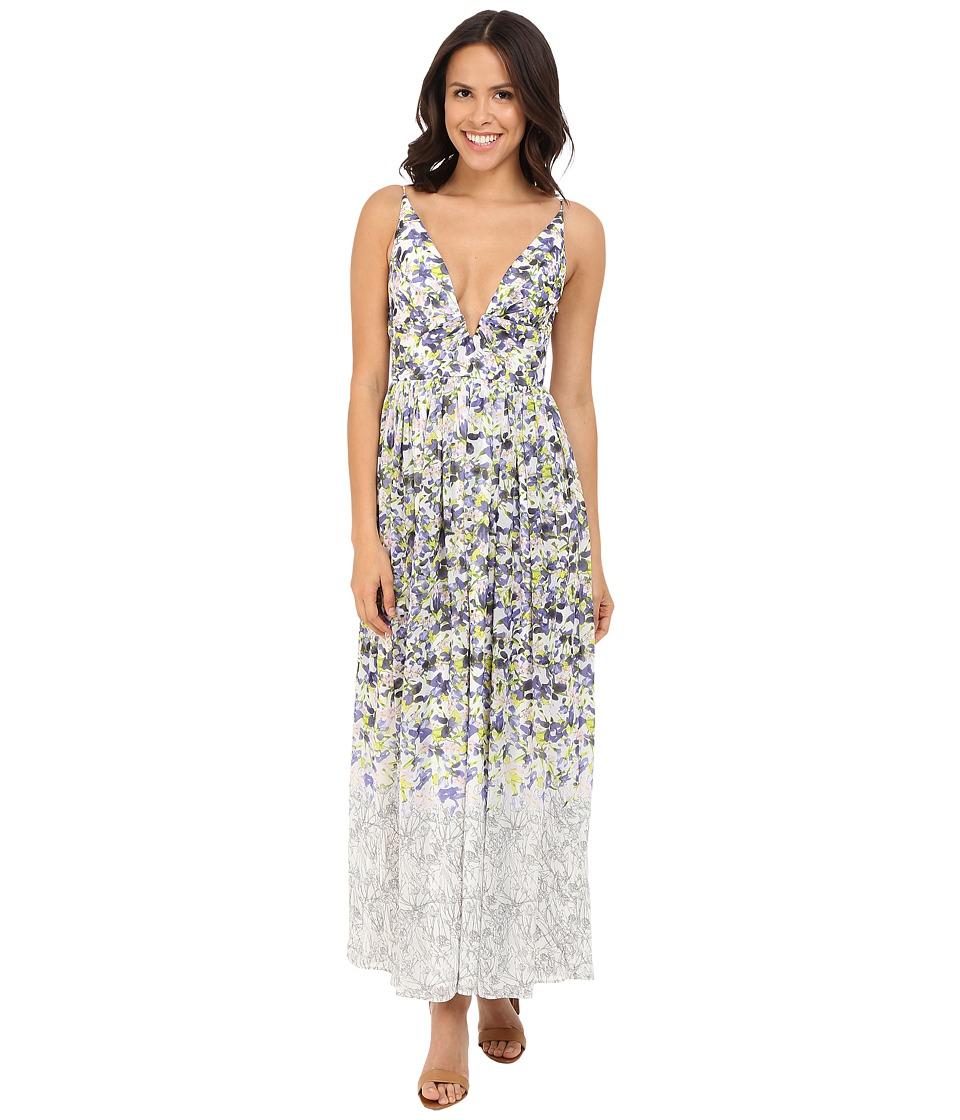 Brigitte Bailey - Ailsa Deep-V Floral Print Maxi Dress (Multi) Women's Dress