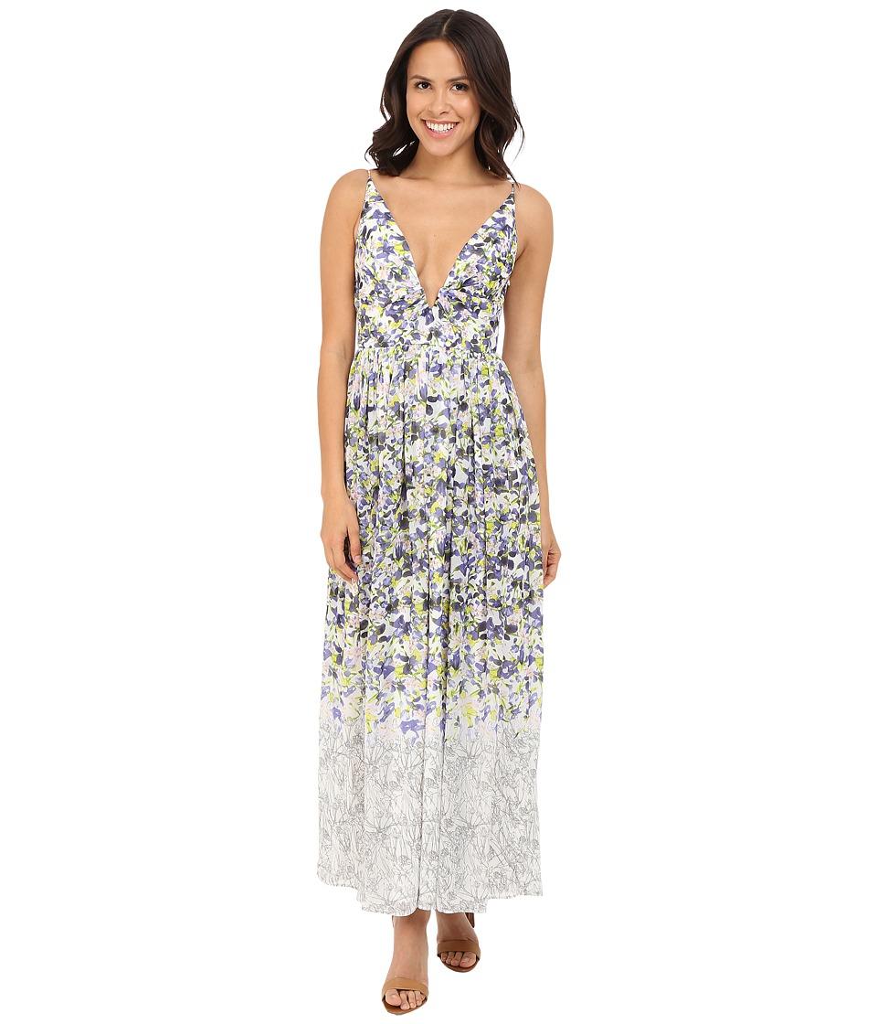 Brigitte Bailey - Ailsa Deep-V Floral Print Maxi Dress (Multi) Women's Dress