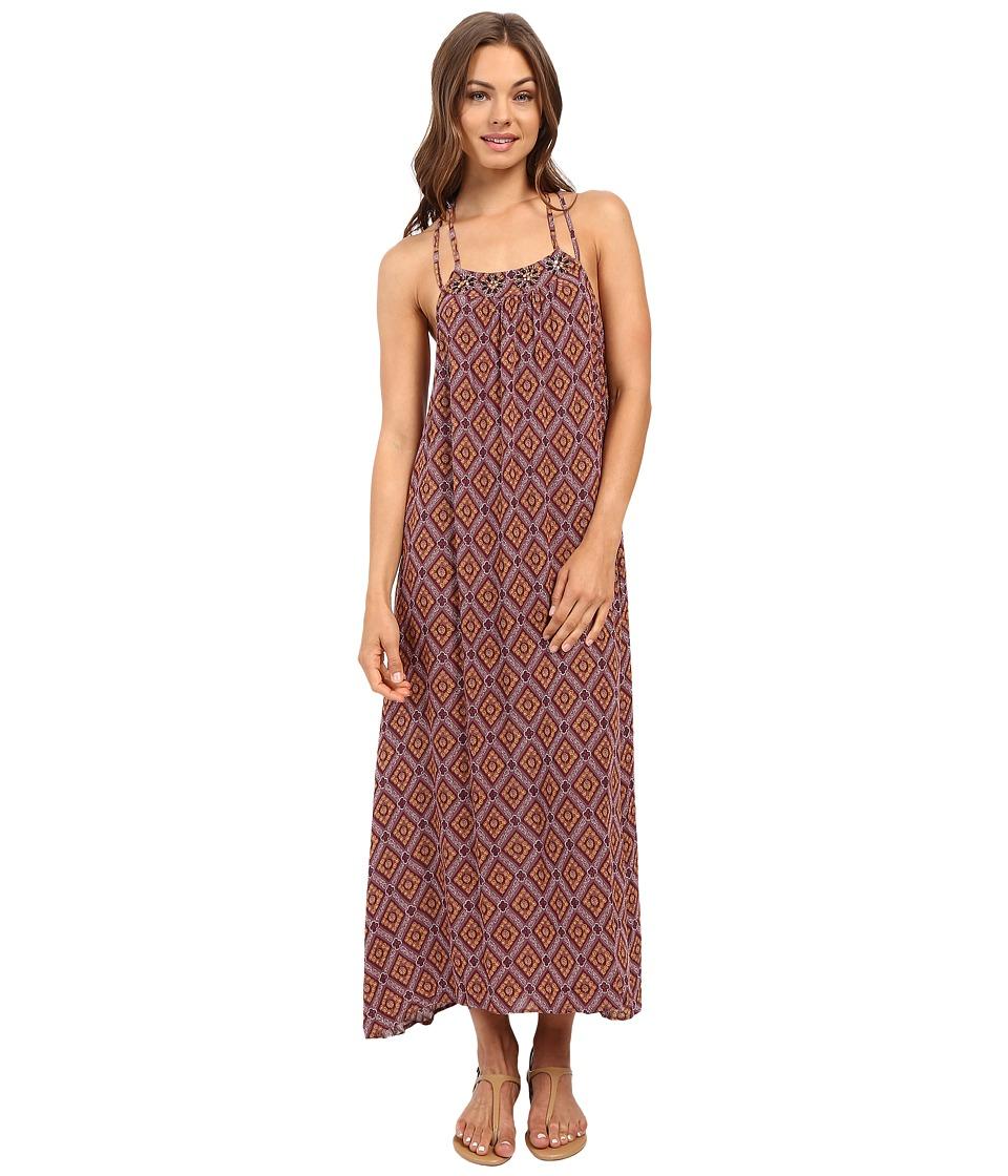 Brigitte Bailey - Kiara Printed Strappy Maxi Dress (Purple) Women's Dress