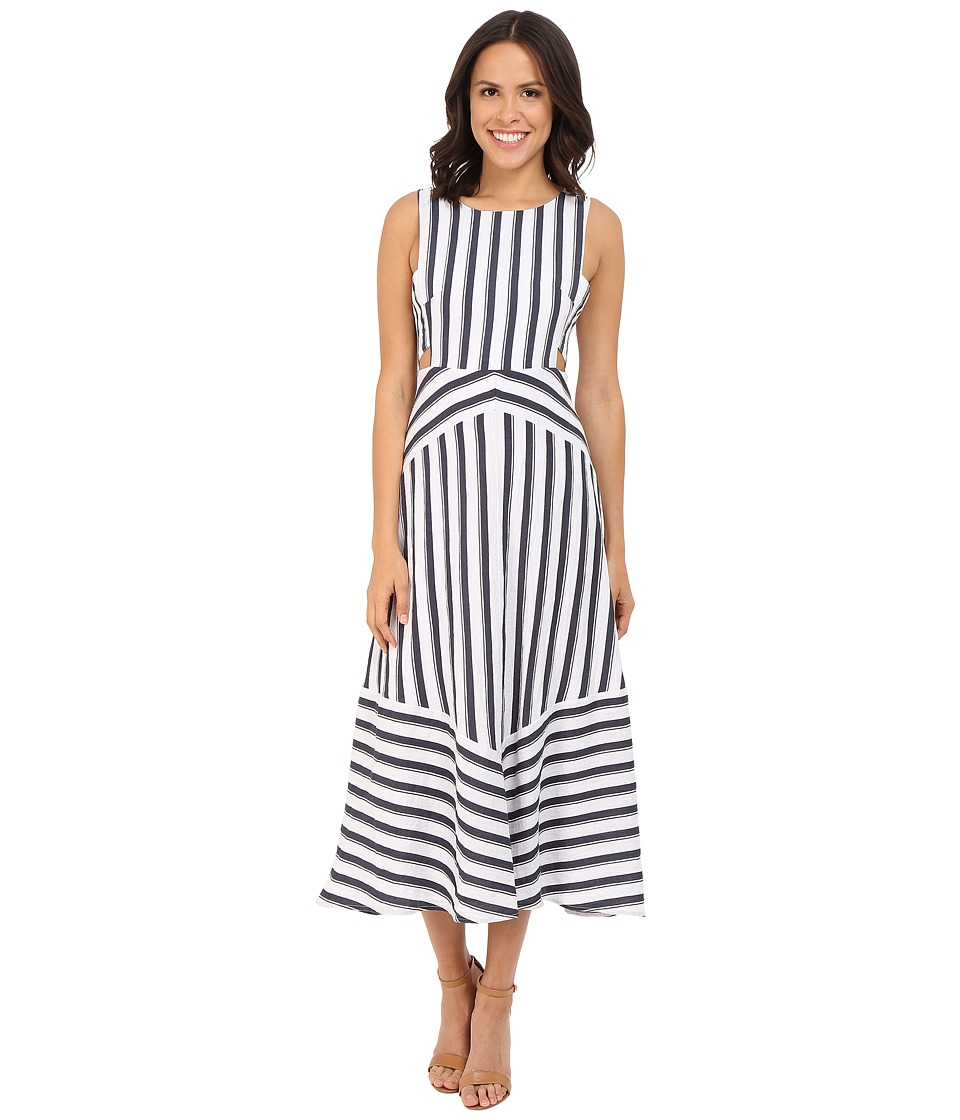 Brigitte Bailey - Amalie Striped Dress with Cut Out Sides (Navy/White) Women's Dress