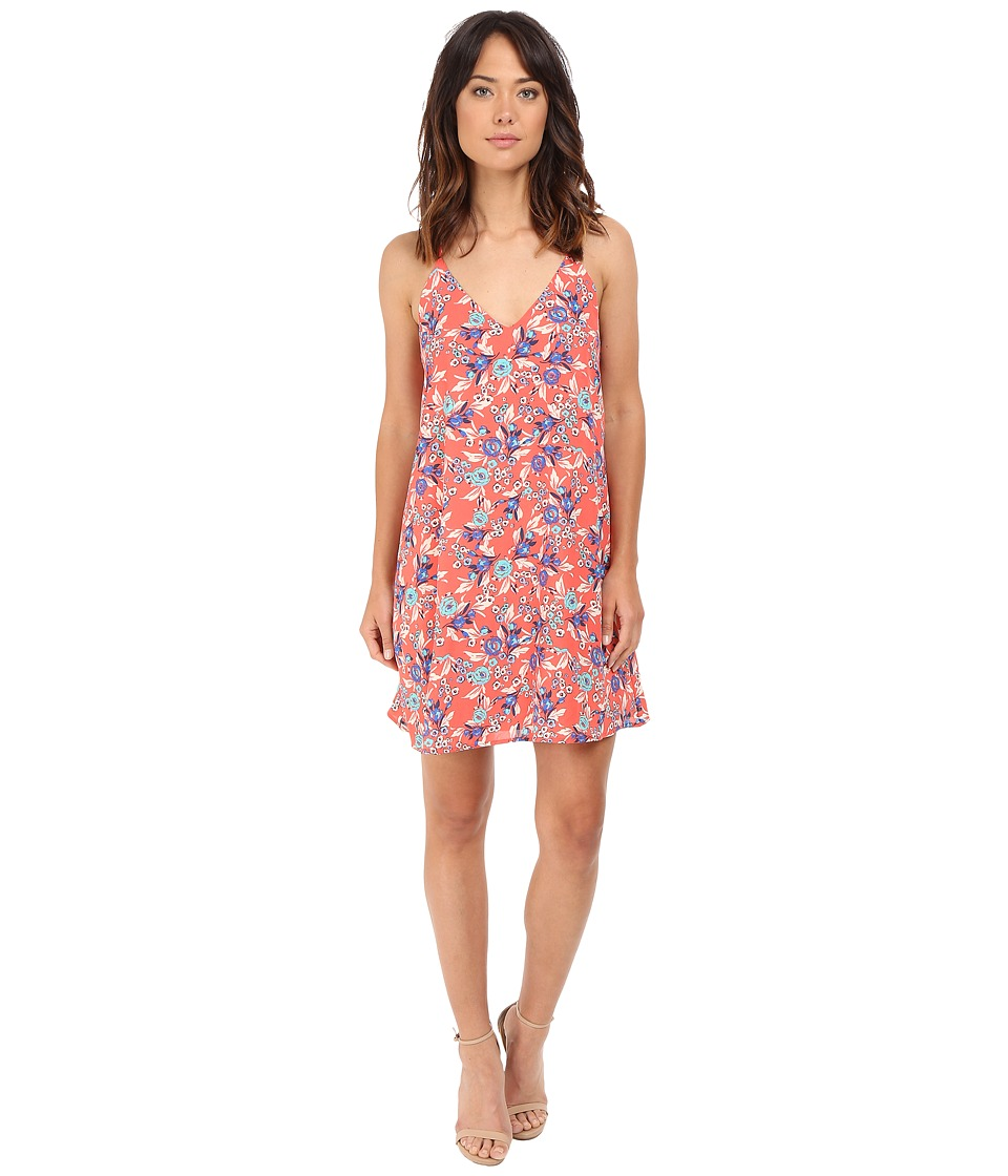 Brigitte Bailey - Sylvie Floral Print Swing Dress (Coral) Women's Dress