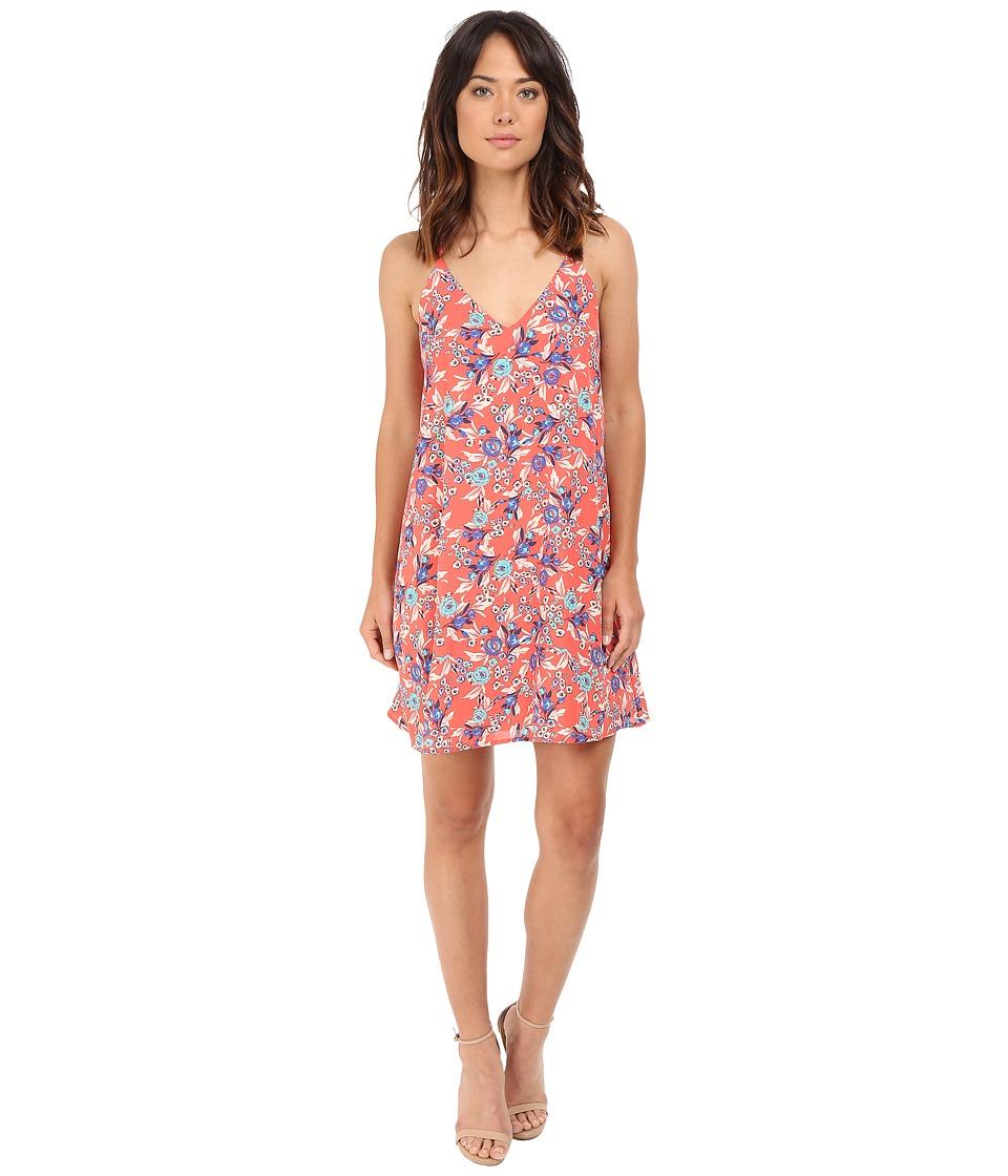 Brigitte Bailey - Sylvie Floral Print Swing Dress (Coral) Women's Dress