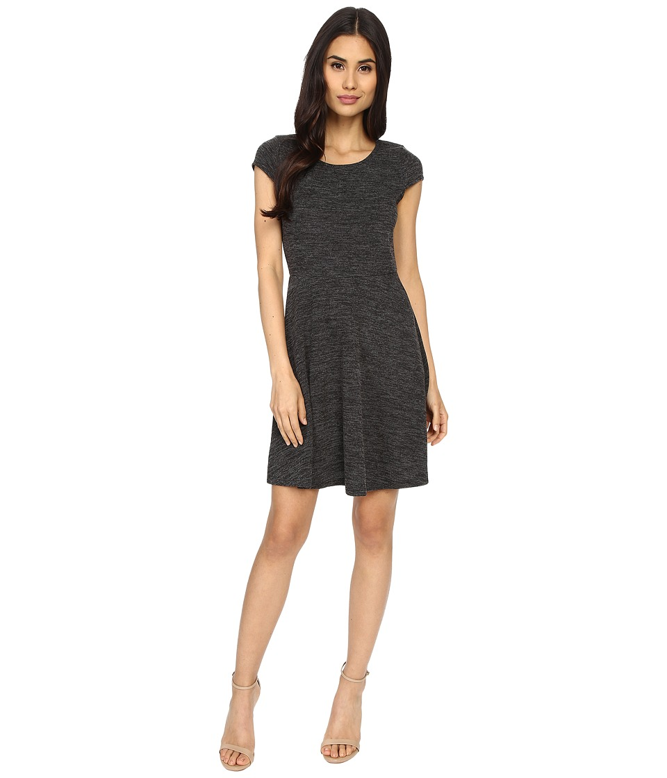 Brigitte Bailey - Beatrix Cap Sleeve Flare Dress (Grey) Women's Dress