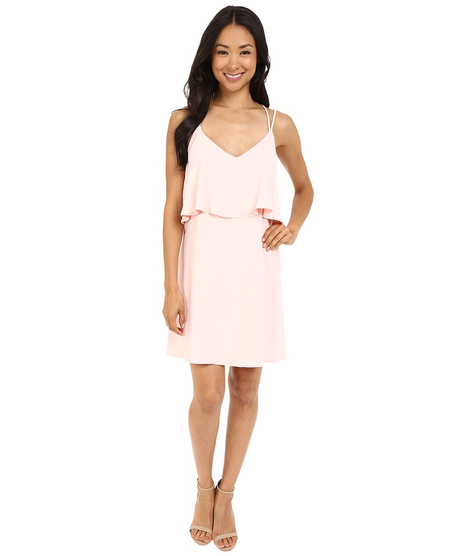 Brigitte Bailey - Rhiannon Overlap Dress with Back Cross Detail (Blush) Women's Dress