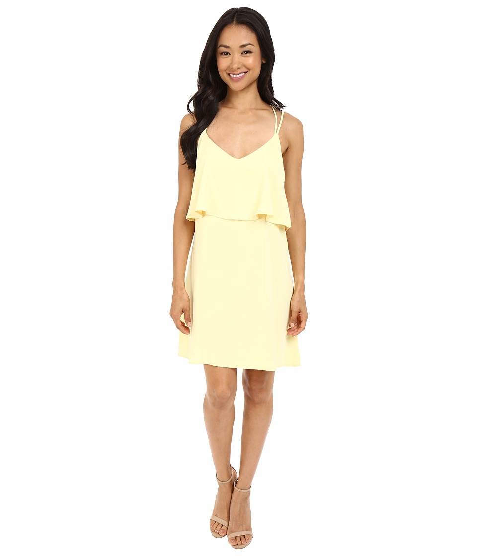 Brigitte Bailey - Rhiannon Overlap Dress with Back Cross Detail (Yellow) Women's Dress