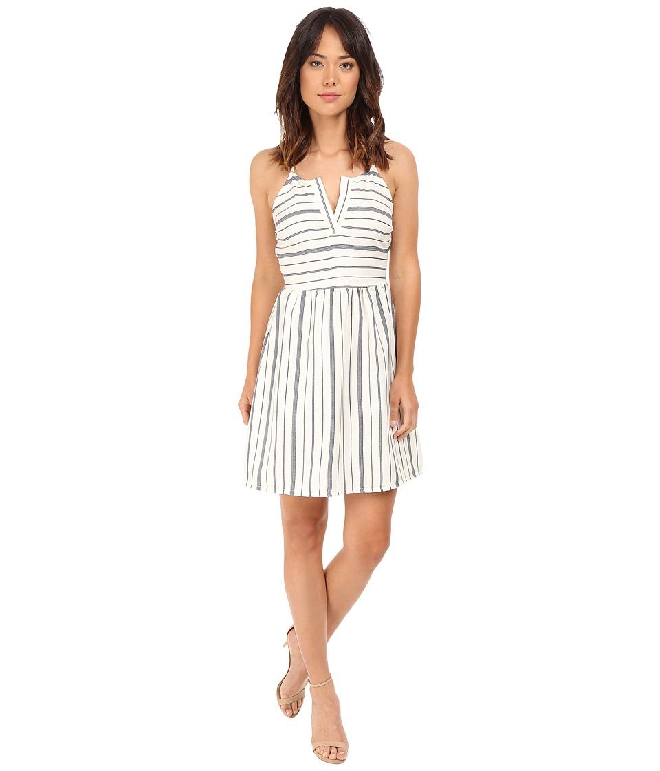 Brigitte Bailey - Georgina Striped Fit and Flare Dress (Navy/Cream) Women's Dress