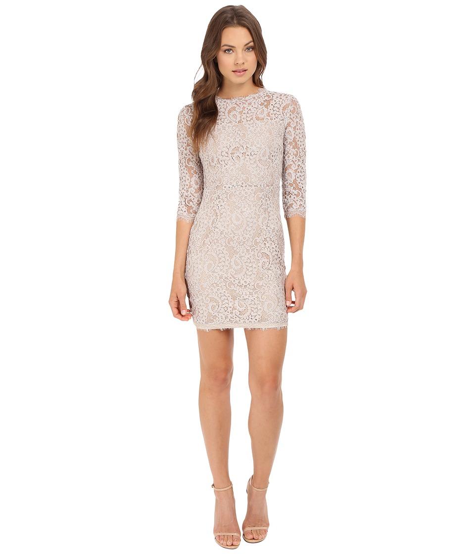 Brigitte Bailey - Lyla 3/4 Sleeve Lace Dress (Taupe) Women's Dress