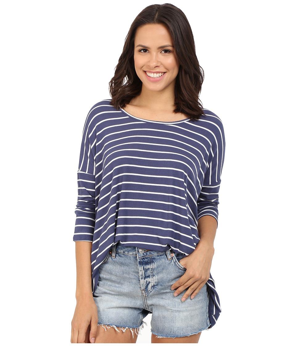 Brigitte Bailey Tay Ribbed T-Shirt (Blue/Ivory) Women