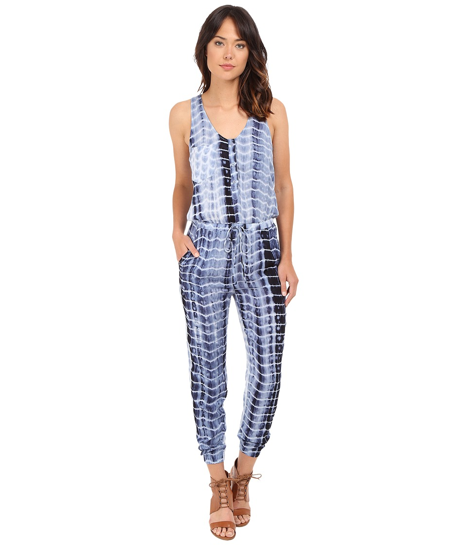 Brigitte Bailey - Ruby Sleeveless Tie-Dye Jumper (Navy/Off-White) Women's Jumpsuit & Rompers One Piece