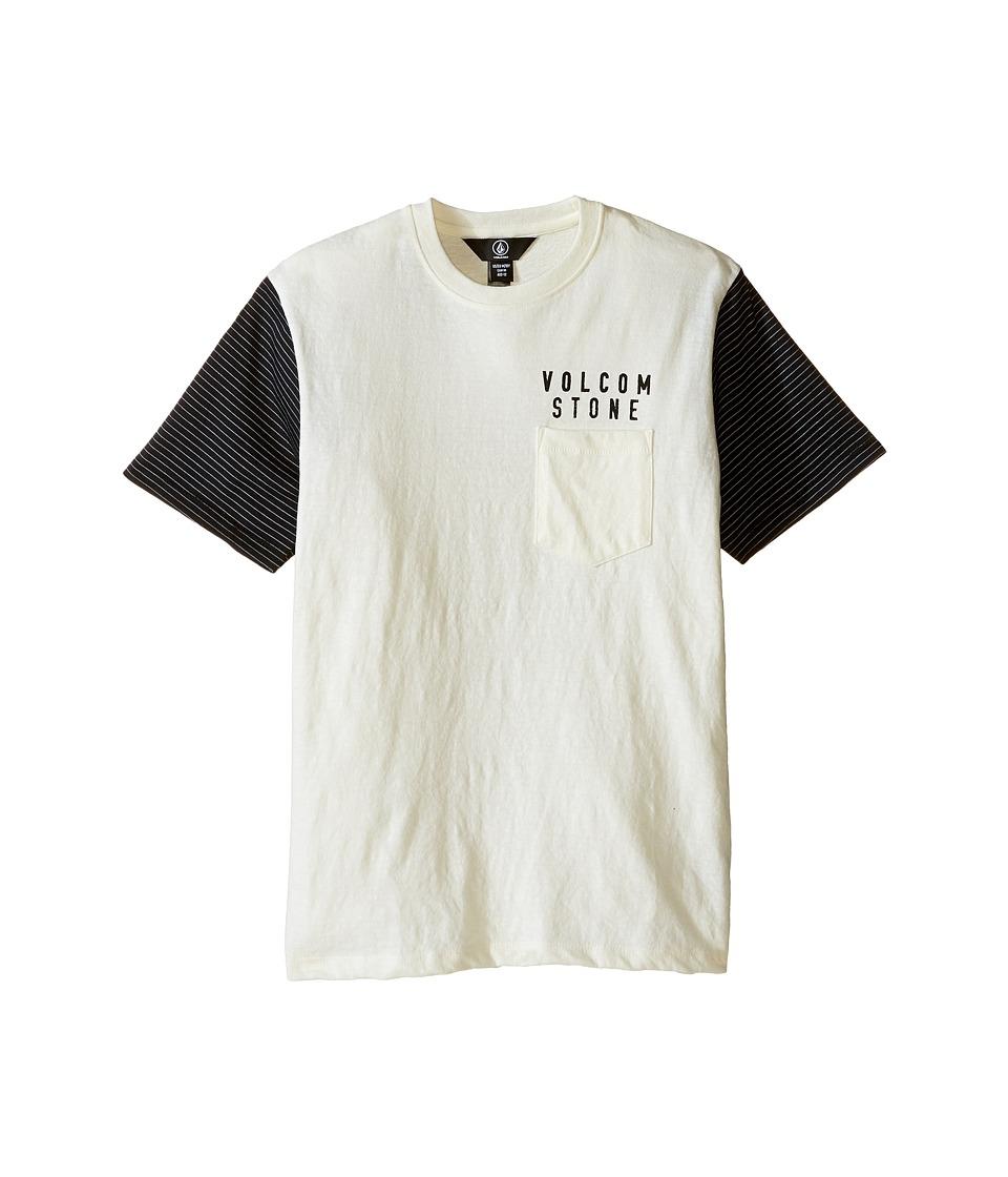Volcom Kids - Vander Short Sleeve Shirt (Big Kids) (Egg White) Boy's Clothing