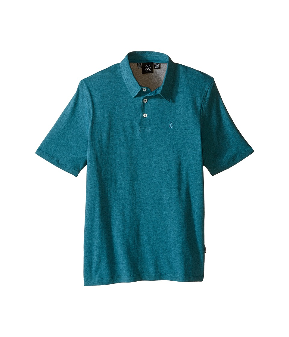 Volcom Kids - Wowzer Polo (Big Kids) (Harbor Blue) Boy's Short Sleeve Pullover