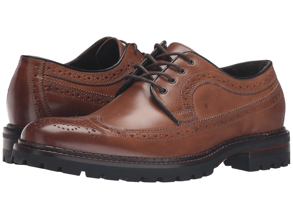 Johnston & Murphy Jennings Wingtip (Tan Calfskin) Men
