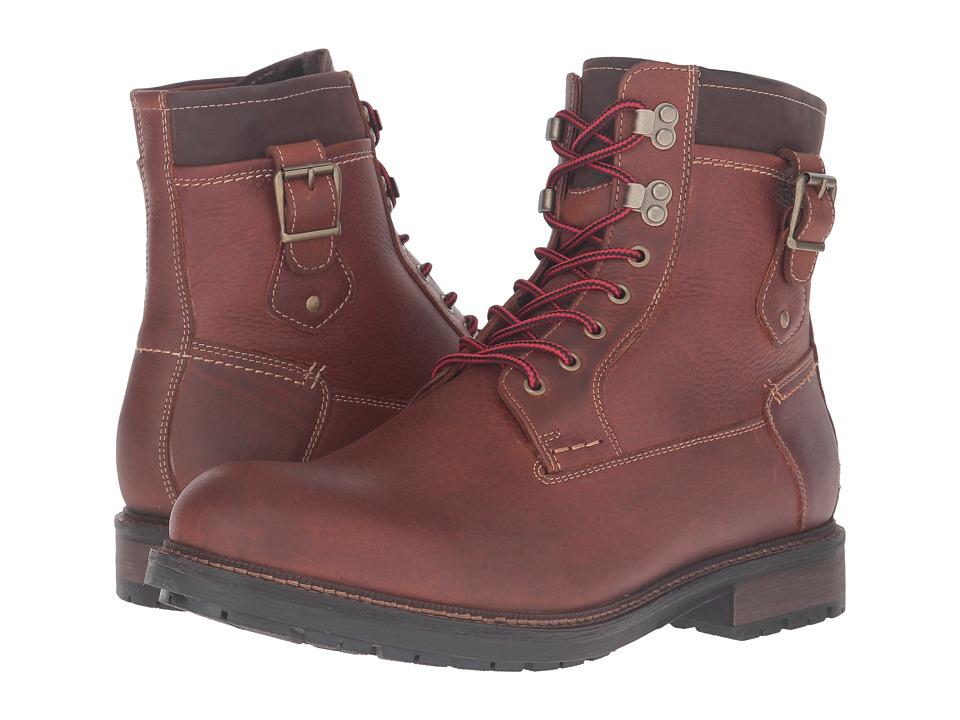Johnston & Murphy - Waterproof McHugh Shearling Boot (Tan Waterproof Tumbled Full Grain) Men's Lace-up Boots