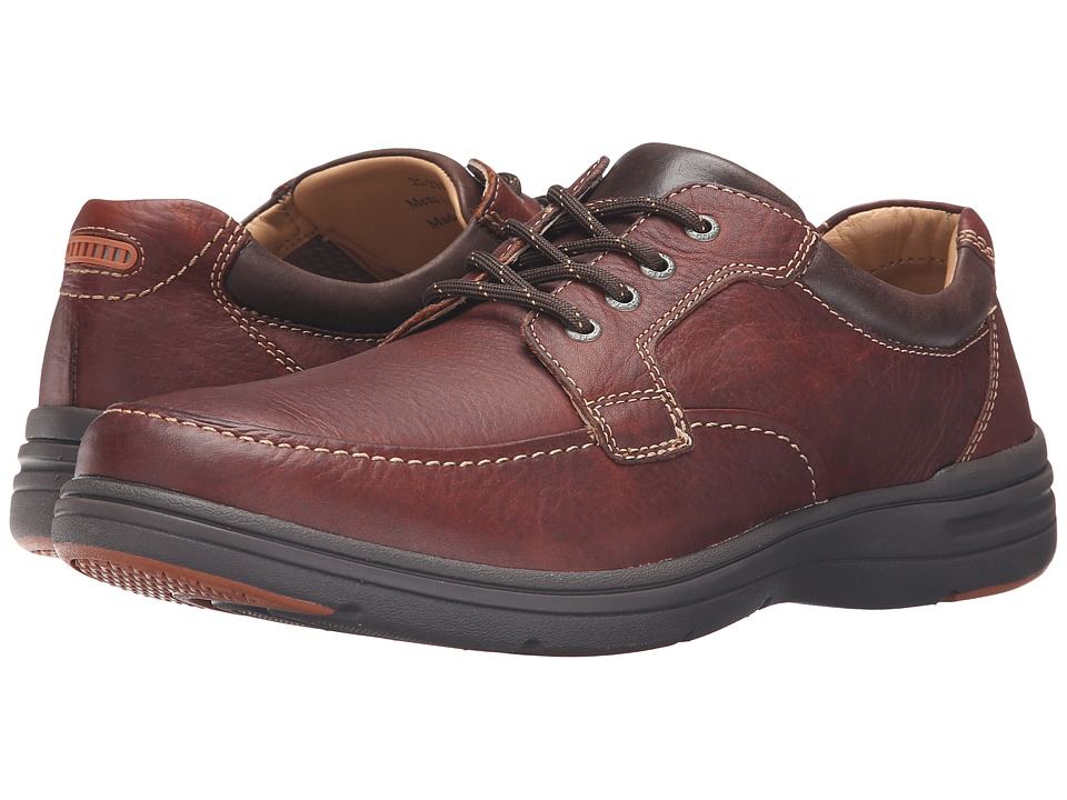 Johnston & Murphy - Matthews Moc Toe (Mahogany Water Resistant Full Grain) Men's Lace up casual Shoes