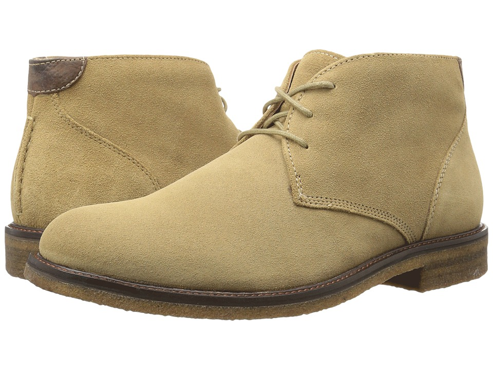 Johnston & Murphy - Copeland Chukka (Taupe Water Resistant Suede) Men's Lace-up Boots
