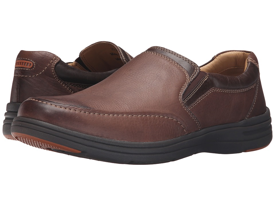 Johnston & Murphy - Matthews Slip-On (Brown Water Resistant Full Grain) Men's Slip on Shoes