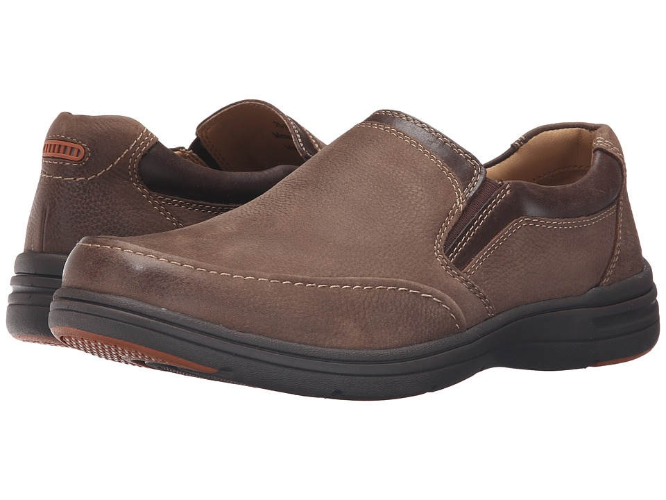 Johnston & Murphy Matthews Slip-On (Dark Taupe Oiled Nubuck) Men