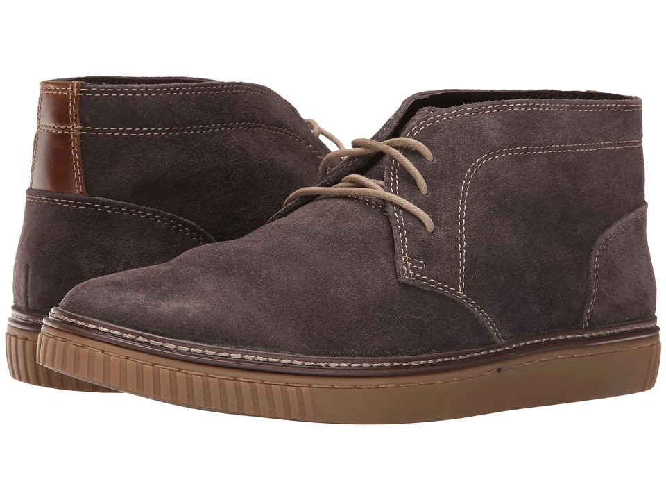 Johnston & Murphy - Wallace Chukka (Gray Water Resistant Suede) Men's Lace Up Moc Toe Shoes
