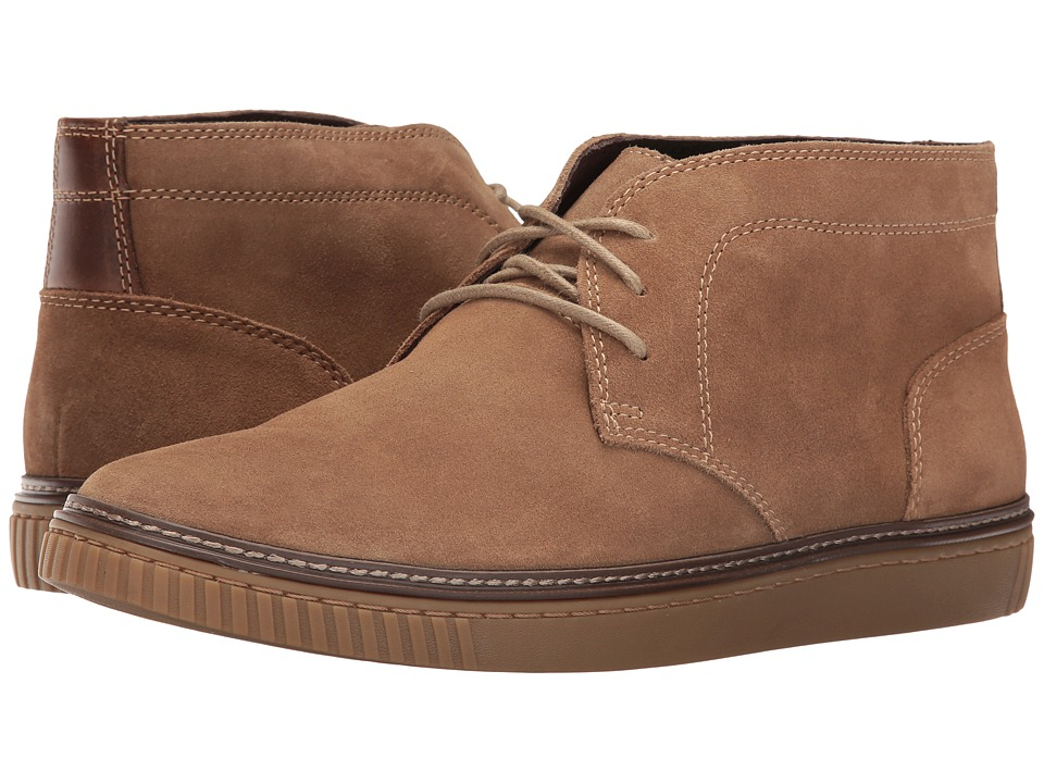 Johnston & Murphy - Wallace Chukka (Taupe Water Resistant Suede) Men's Lace Up Moc Toe Shoes