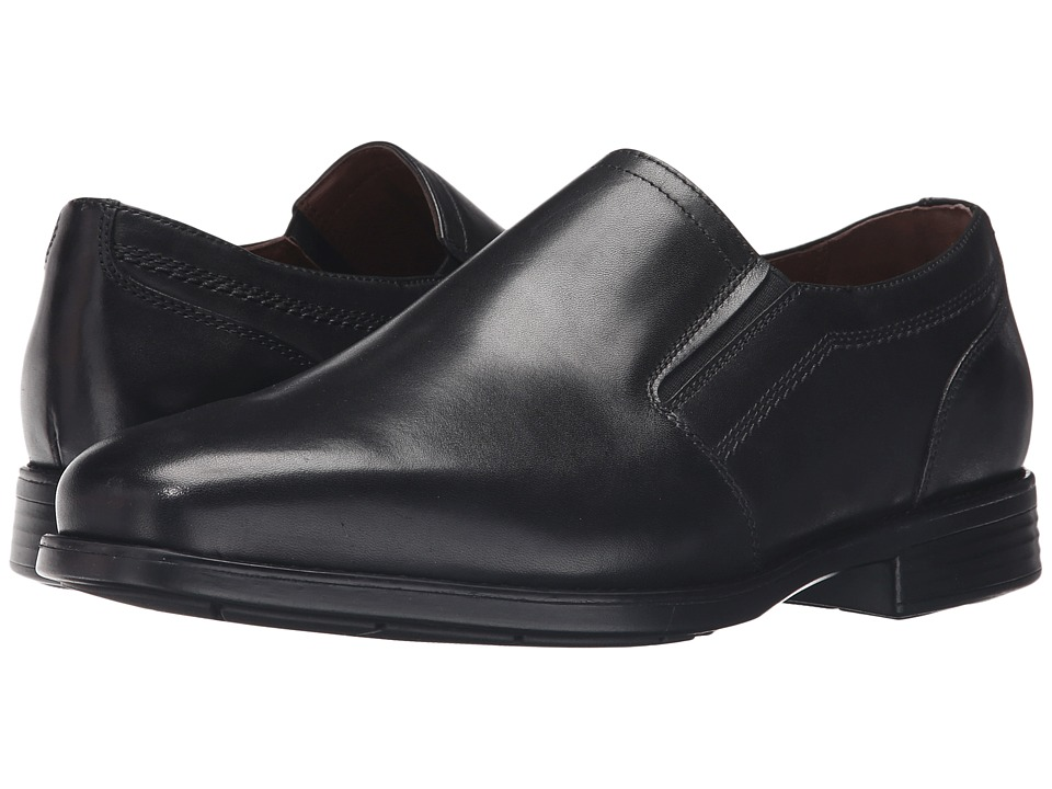 Johnston & Murphy - XC4 Waterproof Branning Plain Toe Venetian (Black Waterproof Calfskin) Men's Slip on Shoes
