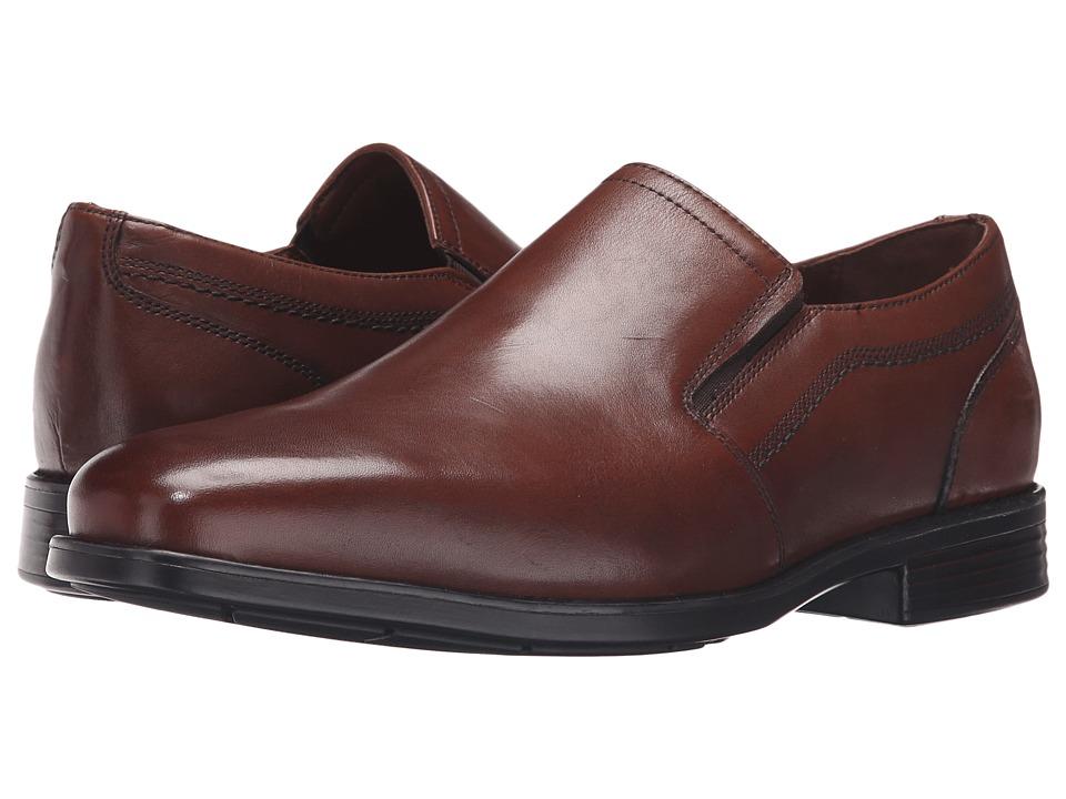Johnston & Murphy - XC4 Waterproof Branning Plain Toe Venetian (Mahogany Waterproof Calfskin) Men's Slip on Shoes