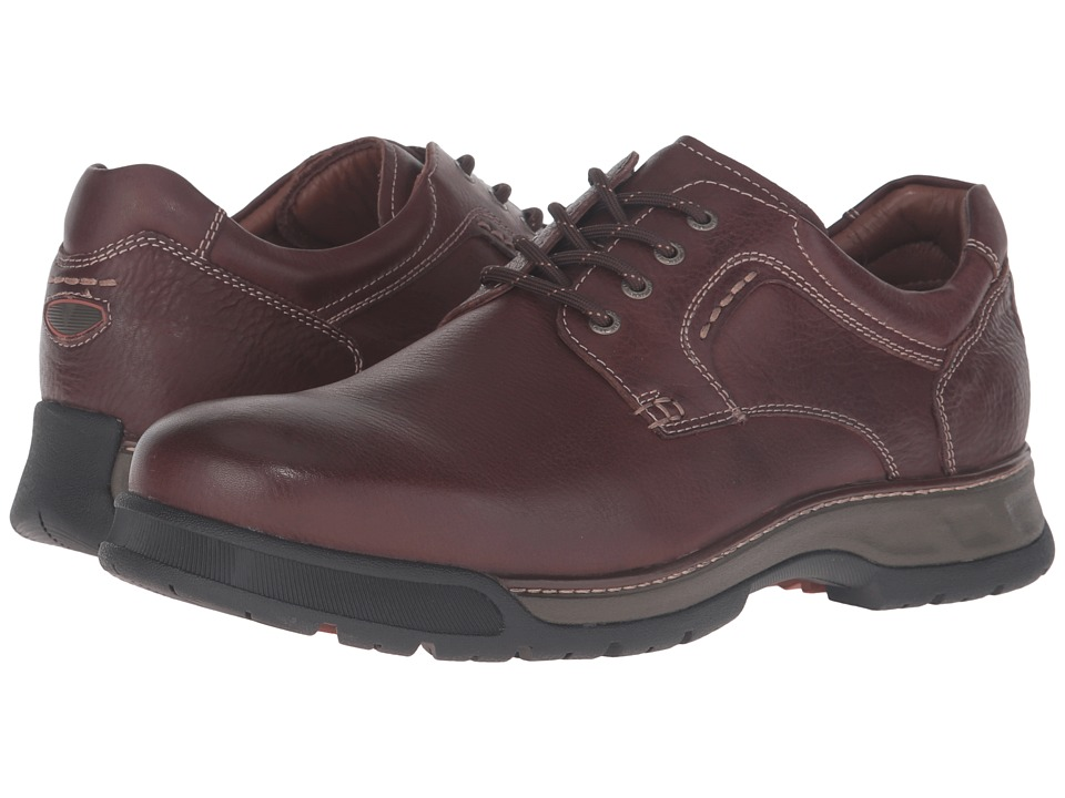 Johnston & Murphy XC4 Waterproof Thompson Plain Toe Lace-Up (Mahogany Waterproof Tumbled Full Grain) Men