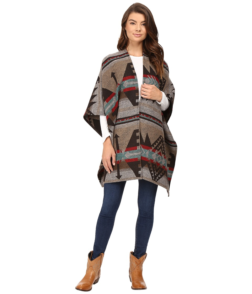 Stetson - Navajo Serape Wrap Cardigan (Brown) Women's Sweater