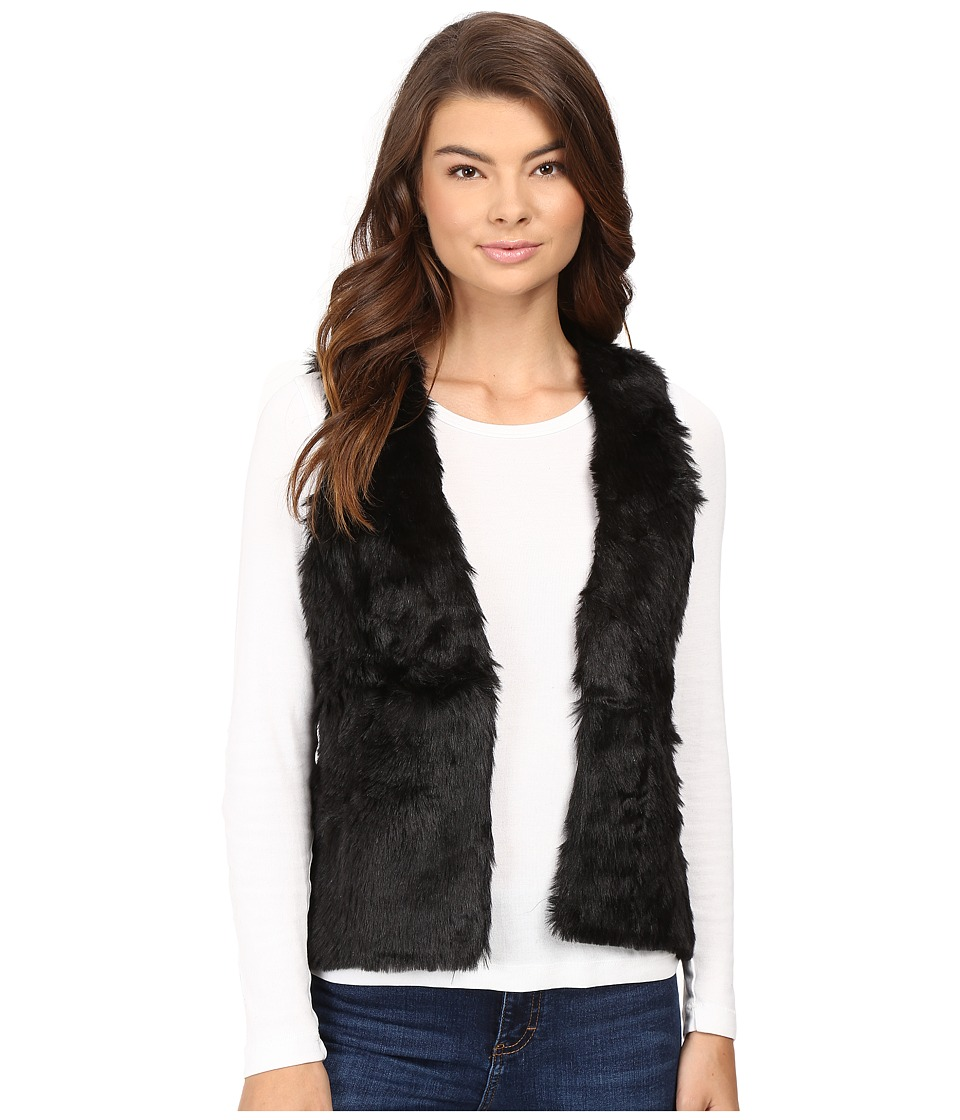 Stetson - Faux Fur Cropped Vest (Black) Women's Vest